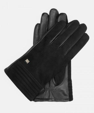 Czarne rękawiczki damskie