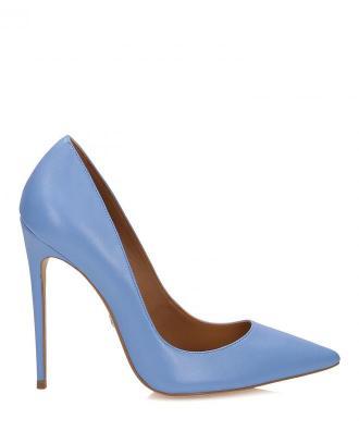Niebieskie czółenka damskie