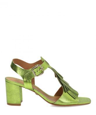 Zielone sandały damskie