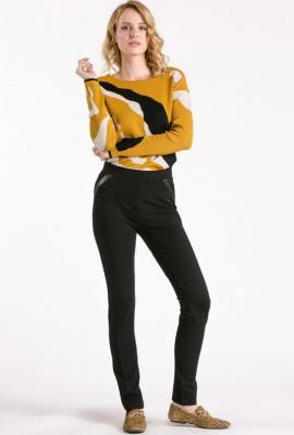 Spodnie z wstawkami z ekoskóry