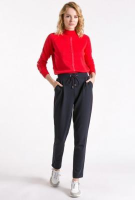 Spodnie materiałowe z lampasami