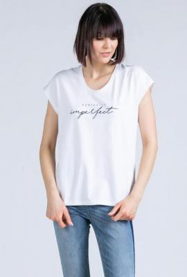 T-shirt z minimalistycznym napisem