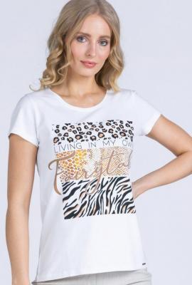 T-shirt z dużym nadrukiem