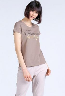 Bawełniany t-shirt z napisami
