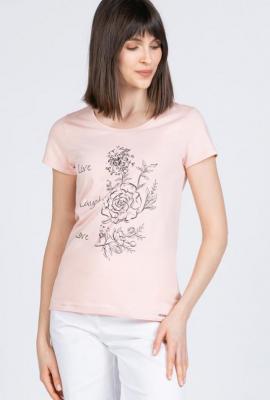 T-shirt z kwiecistym nadrukiem