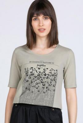 T-shirt z nadrukiem na przodzie
