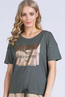 T-shirt z połyskującym printem