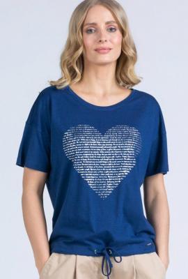T-shirt z połyskującym sercem