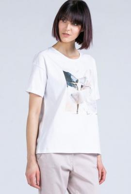 T-shirt z subtelnym nadrukiem