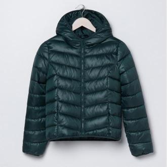 Sinsay - Pikowana kurtka z kapturem - Khaki