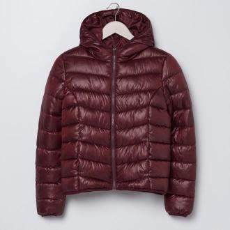 Sinsay - Pikowana kurtka z kapturem - Fioletowy