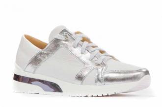 Sneakersy 2858 biało-srebrne