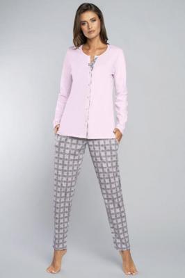 Italian Fashion Gizela dł.r.dł.sp. Nocna piżama - róż/druk