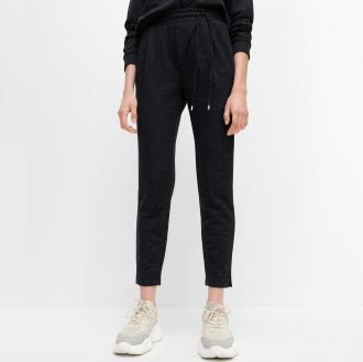 Reserved - Melanżowe spodnie dresowe - Szary