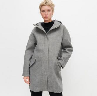 Reserved - Płaszcz z kapturem - Szary