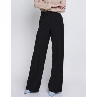 Lanti Spodnie z wysokim stanem Sd111 Spodnie Czarny Dorośli Kobiety