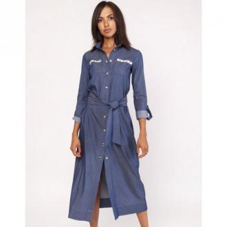 Lanti Sukienka jeansowa Suk158 Sukienki Niebieski Dorośli Kobiety