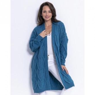Fobya Kardigan z warkoczami F 686 Swetry i bluzy Niebieski Dorośli