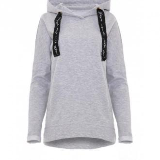 Fobya Bluza z kapturem F875 Swetry i bluzy Szary Dorośli Kobiety