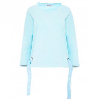 Fobya Bluza kangurka F873 Swetry i bluzy Niebieski Dorośli Kobiety