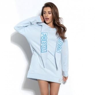 Fobya Bluza z kapturem F931 Swetry i bluzy Niebieski Dorośli Kobiety