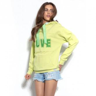 Fobya Bluza z kapturem F944 Swetry i bluzy Zielony Dorośli Kobiety