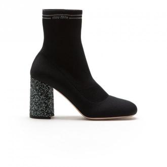 Ankle boots in fabric