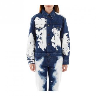 Calvin Klein CalBleached kurtka dżinsowa Kurtki Niebieski Dorośli
