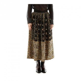 Ulla Johnson Embroidered skirt Sukienki Czarny Dorośli Kobiety