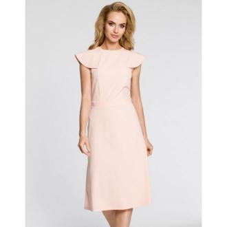Moe Sukienka z falbanami M311 Sukienki Różowy Dorośli Kobiety Rozmiar: