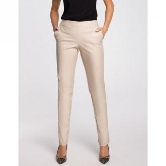Moe Spodnie z eko skóry M144 Spodnie Beżowy Dorośli Kobiety Rozmiar: M