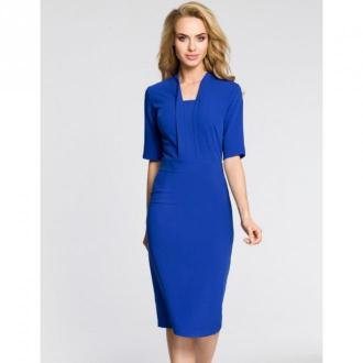 Moe Sukienka z dekoltem szalowym M310 Sukienki Niebieski Dorośli