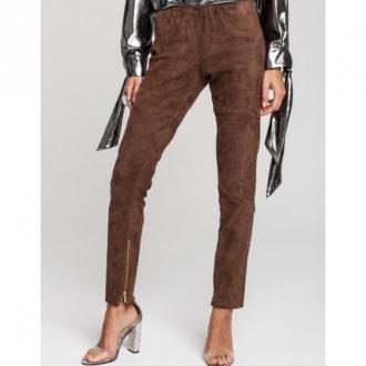 Louve Spodnie skórzane Ariadne Spodnie Brązowy Dorośli Kobiety