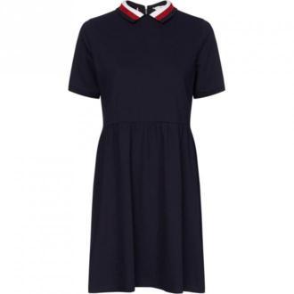 Tommy Hilfiger Sukienka Sukienki Niebieski Dorośli Kobiety Rozmiar: XS