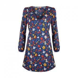 Tommy Hilfiger Sukienka 'Wrap Sukienka' Sukienki Niebieski Dorośli