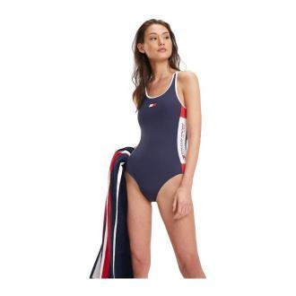 Tommy Hilfiger Jednoczęściowy strój kąpielowy Moda plażowa Czarny