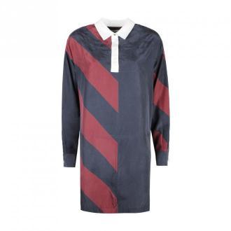 Tommy Hilfiger Sukienka 'Icon Rugby Silk' Sukienki Niebieski Dorośli