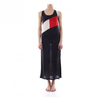 Tommy Hilfiger Tank Dress Uw0Uw01525 Sukienki Niebieski Dorośli