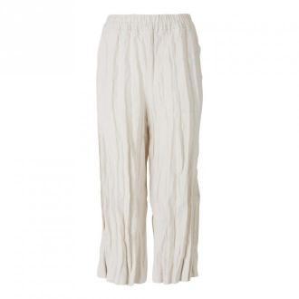 Acne Studios Wrinkled Culotte Spodnie Beżowy Dorośli Kobiety Rozmiar: