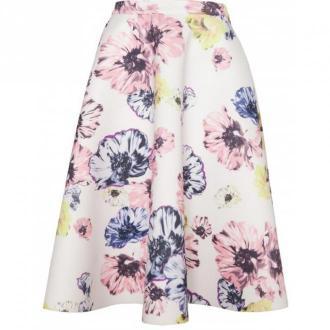 Figl Spódnica w kwiaty M383 Spódnice Czarny Dorośli Kobiety Rozmiar: L
