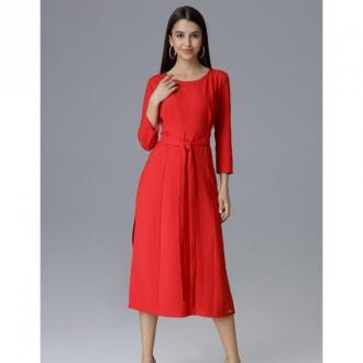 Sukienka midi wiązana w pasie M631