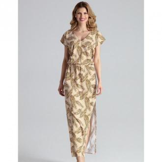 Sukienka maxi dekoltem w kształcie litery V M668
