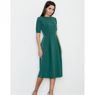 Sukienka midi z krótkim rękawem m553