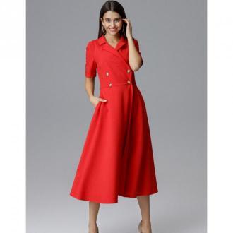 Sukienka dwurzędowa midi M632