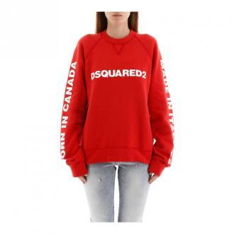 Dsquared2 wydrukowane bluza Swetry i bluzy Czerwony Dorośli Kobiety