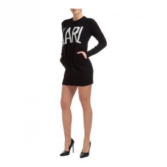 Karl Lagerfeld short mini dress Sukienki Czarny Dorośli Kobiety