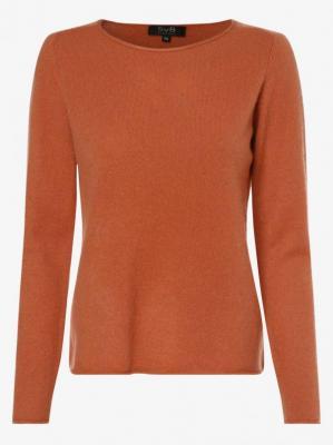 SvB Exquisit - Sweter damski z czystego kaszmiru, pomarańczowy