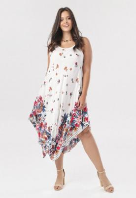 Biała Sukienka Nemedise