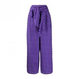 Kenzo Trousers Spodnie Fioletowy Dorośli Kobiety Rozmiar: 40 FR