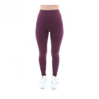 Adidas Legginsy Spodnie Czerwony Dorośli Kobiety Rozmiar: 40 IT